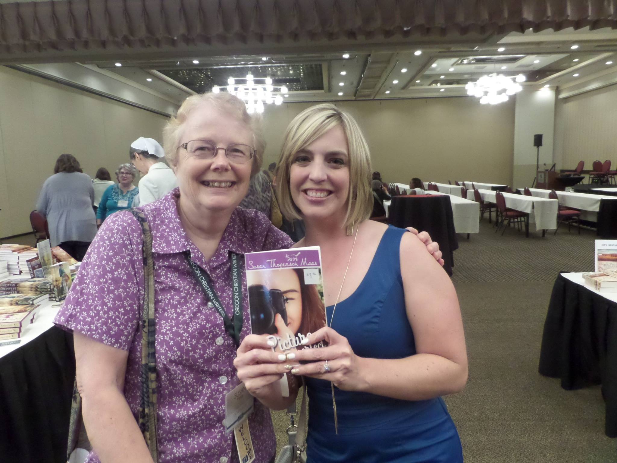 At Oregon Christian Writers' Summer Conference with author Angela Ruth Strong